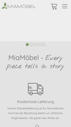 Vorschau der mobilen Webseite www.mia-moebel.de, MiaMöbel GmbH