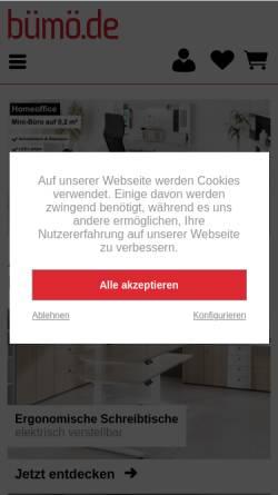 Vorschau der mobilen Webseite www.xn--brombel-versand-ctb2h.de, Bümö.de
