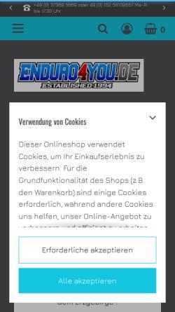 Vorschau der mobilen Webseite www.enduro4you.de, Enduro4you