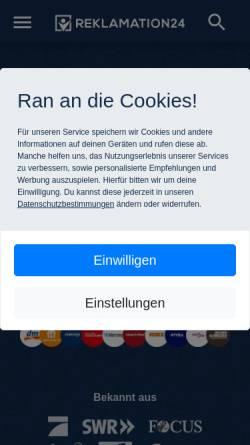 Vorschau der mobilen Webseite www.reklamieren24.de, Reklamieren24