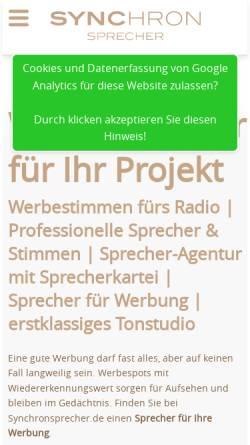 Vorschau der mobilen Webseite www.french-voices.eu, French Voices EU - Carpe Diem Studios GmbH