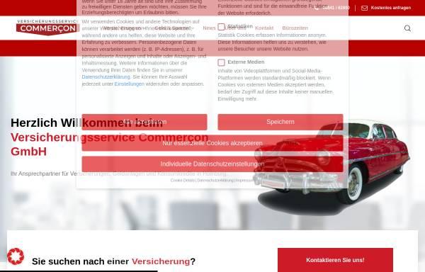 Vorschau von www.versicherung-commercon.de, Versicherungsservice Commercon GmbH