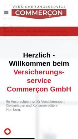 Vorschau der mobilen Webseite www.versicherung-commercon.de, Versicherungsservice Commercon GmbH