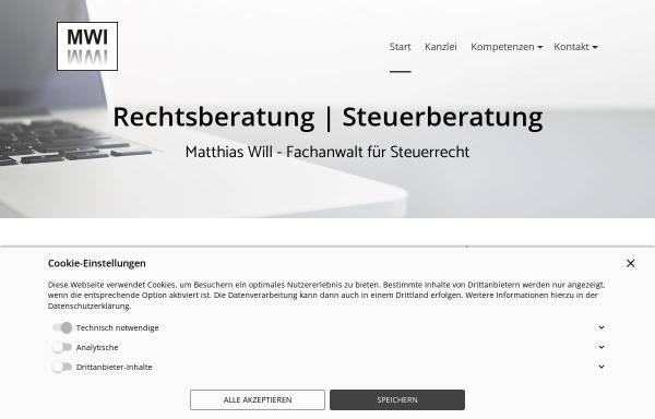 Vorschau von www.mwi-rs.de, MWI Rechtsberatung/Steuerberatung