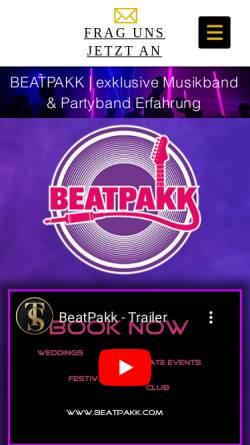 Vorschau der mobilen Webseite www.t-s-entertainment.com, BeatPakk
