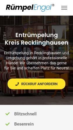 Vorschau der mobilen Webseite www.ruempel-engel.de, Rümpel Engel