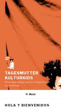 Vorschau der mobilen Webseite www.addys.de, Kindertagespflege KulturKids