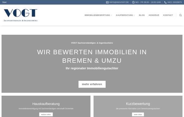 Vorschau von ingvogt.de, VOGT Sachverständigen- & Ingenieurbüro