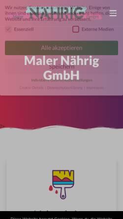 Vorschau der mobilen Webseite maler-naehrig.de, Mahler Nährig GmbH