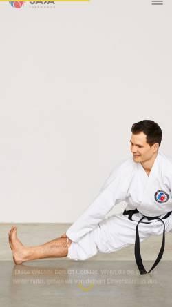 Vorschau der mobilen Webseite saja-taekwondo.de, SAJA Taekwondo