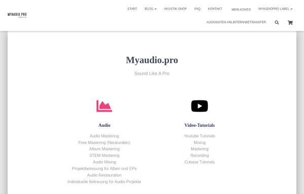Vorschau von myaudio.pro, Björn Truknus - Myaudio.pro