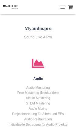 Vorschau der mobilen Webseite myaudio.pro, Björn Truknus - Myaudio.pro