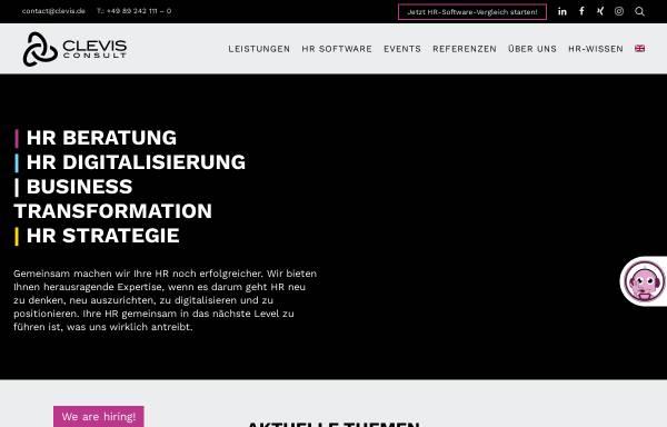 Vorschau von www.clevis.de, CLEVIS Consult -