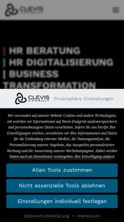Vorschau der mobilen Webseite www.clevis.de, CLEVIS Consult -