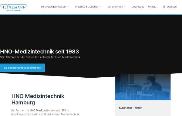 Vorschau von www.heinemann-ent.de, Heinemann Medizintechnik GmbH