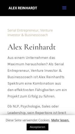 Vorschau der mobilen Webseite www.alexreinhardt.de, Alex Reinhardt