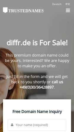 Vorschau der mobilen Webseite diffr.de, diffr - Mandy Bezdicek