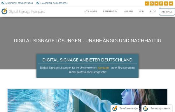 Vorschau von digitalsignagekompass.de, Digital Signage Kompass
