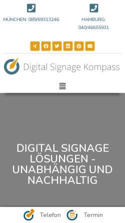 Vorschau der mobilen Webseite digitalsignagekompass.de, Digital Signage Kompass