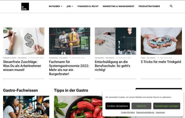 Vorschau von die-gastro.de, Die Gastro