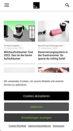 Vorschau der mobilen Webseite die-gastro.de, Die Gastro