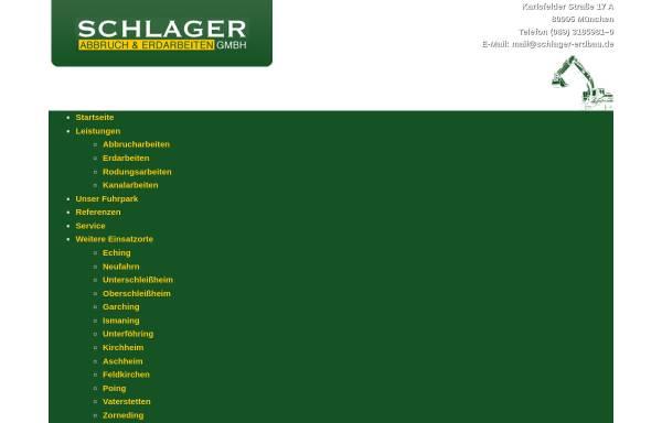 Vorschau von www.schlager-erdbau.de, Schlager Abbruch & Erdarbeiten GmbH
