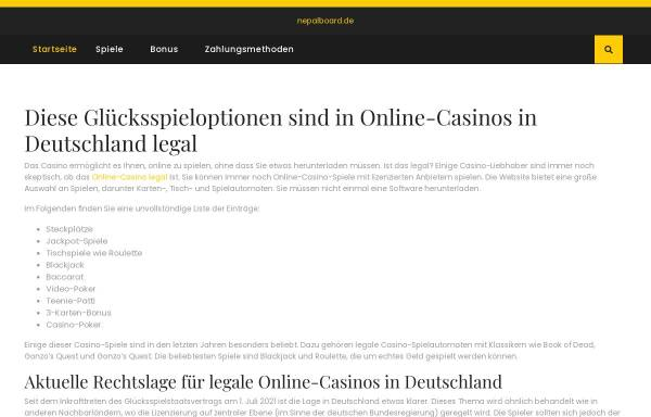 Vorschau von www.nepalboard.de, Nepal for Traveller