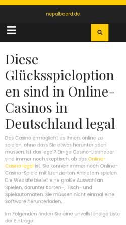 Vorschau der mobilen Webseite www.nepalboard.de, Nepal for Traveller