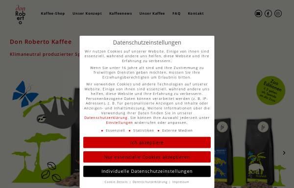 Vorschau von www.donrobertocoffee.com, Don Roberto