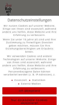 Vorschau der mobilen Webseite www.donrobertocoffee.com, Don Roberto