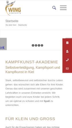 Vorschau der mobilen Webseite www.akademie-selbstverteidigung-kinder.de, Kampfkunstakademie - Stefan Jöhnk