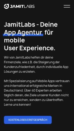 Vorschau der mobilen Webseite jamitlabs.com, Jamit Labs GmbH