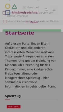 Vorschau der mobilen Webseite eigennachwuchs.de, Eigennachwuchs