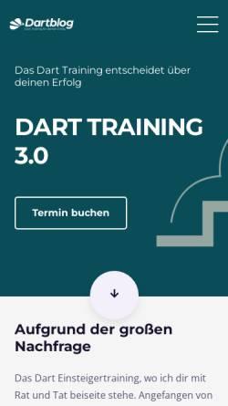 Vorschau der mobilen Webseite dartblog.de, Dartblog