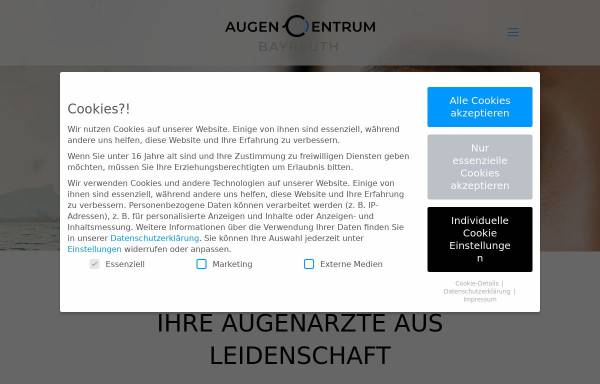Vorschau von www.augencentrum-bayreuth.de, AugenCentrum Bayreuth