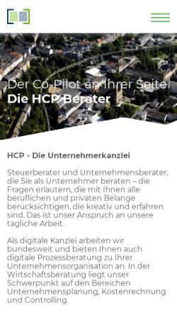 Vorschau der mobilen Webseite hcp-berater.de, Heilmann, Conrad & Partner Partnerschaft mbB