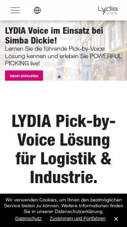 Vorschau der mobilen Webseite www.lydia-voice.com, Lydia Voice