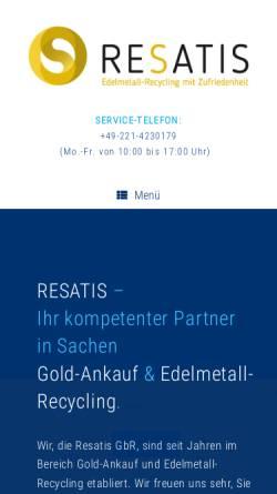 Vorschau der mobilen Webseite resatis.de, RESATIS