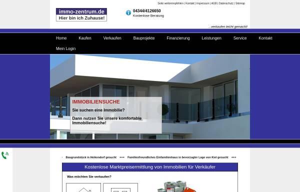 Vorschau von www.immo-zentrum.de, Immobilienmakler