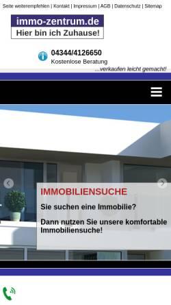 Vorschau der mobilen Webseite www.immo-zentrum.de, Immobilienmakler