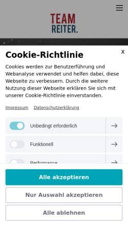 Vorschau der mobilen Webseite www.team-reiter.de, Foodfotostudio Team Reiter