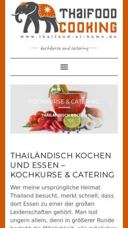 Vorschau der mobilen Webseite thaifood-at-home.de, Thaifood at Home