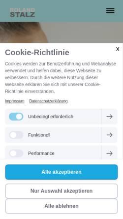 Vorschau der mobilen Webseite www.roland-stalz.de, Roland Stalz