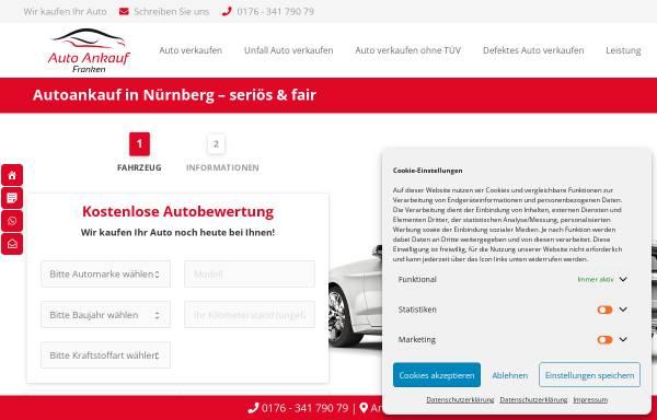 Vorschau von autoankauffranken.de, Ankauf Franken