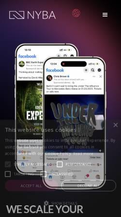 Vorschau der mobilen Webseite www.nyba.de, NYBA Media GmbH
