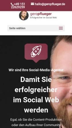 Vorschau der mobilen Webseite www.geropflueger.de, Gero Pflüger