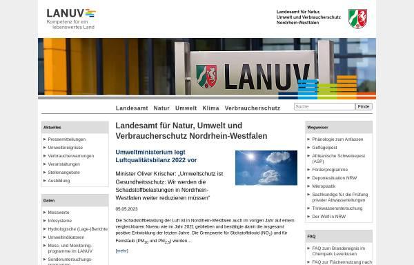 Vorschau von www.lua.nrw.de, Landesumweltamt Nordrhein-Westfalen