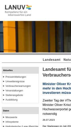 Vorschau der mobilen Webseite www.lua.nrw.de, Landesumweltamt Nordrhein-Westfalen