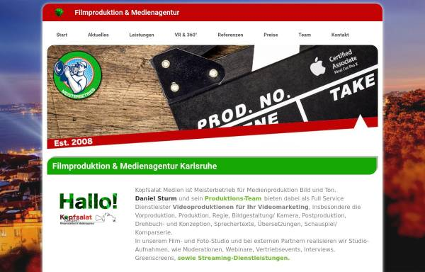 Vorschau von kopfsalat-medien.de, Kopfsalat Medien
