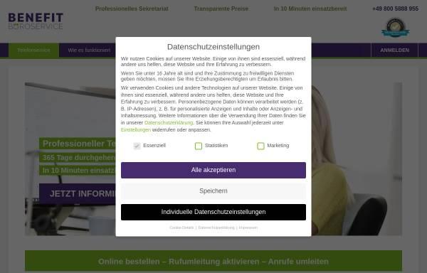 Vorschau von www.benefit-bueroservice.de, Benefit Büroservice GmbH
